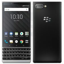 BlackBerry KEY2 4.5'' Silver 64GB 6GB RAM Dual12MP+8MP Android 8.1 Phone ByFedex