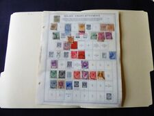 Malaya - Straits Settlements 1867-1941 Stamp Collection on Album Pgs