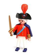 Playmobil Figure British Military Red Coat Harbour Guard Leader Sword Hat 3054