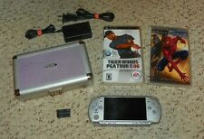 Sony PSP Bundle - PlayStation Portable 2001 + 3 Games & UMD - Silver