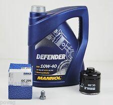 5 Liter Mannol 10W-40 Defender Motoröl mit MAHLE Ölfilter VW Golf 3 Polo 6N 86C
