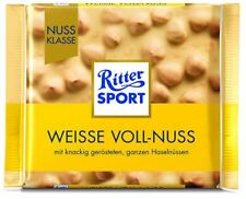 15 x RITTER SPORT VOLL-NUSS / WHITE NUTS CHOCOLATE FROM GERMANY ! GERMAN CANDIES