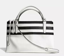 NWT COACH BOROUGH COLORBLOCK STRIPES LEATHER BAG SATCHEL CARRYALL 30354 $698