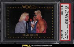 1991 Championship Marketing WCW Ric Flair, Jim & Sting #66 PSA 8 NM-MT