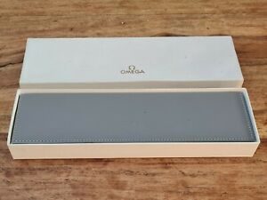 Rare Omega Leather Oblong Box 1960s Very Good Condition