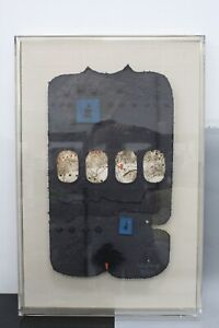 """Lebadang """"L'espace De L'Amite"""" Signed Sculpted Paper Collage in Display Case"""