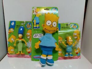 Lot Of 3 Vintage 1990's Simpsons Toys New Old Stock In Box Bart Marge Simpson