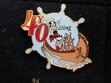 Pin 23667 Dlr Cast Canoe Races 2003 Pirate Mickey Mouse 40 Years of Paddling Le