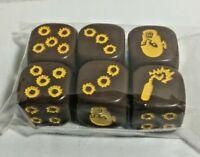 Zombicide  : Dice set  CMoN:  Brown & Yellow