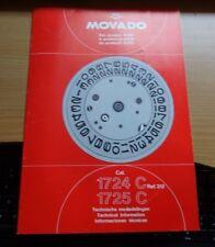 Technische Information Movado  Kaliber 1724/1725 C