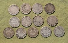 Lot of 13 Canada and Newfoundland 10 cent silver coins, 1898-1932