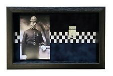 More details for large police medal display case with photo. for 2 - 3  medals.