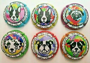 capsule de champagne Boland - Série dessins têtes de chiens - N° 3 à 3 e
