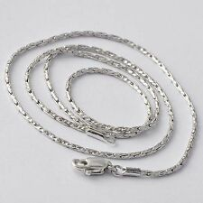 White Gold Filled Silver Snake Chain Womens Long Necklace Free Shipping 17.3''