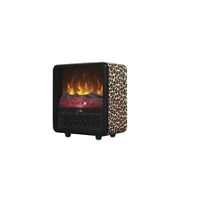Duraflame Personal Fire Cube Electric Heater Fireplace, Leopard  FREE SHIPPING