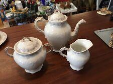 Antique LS&S Limoges Tea Pot Sugar Bowl and Creamer