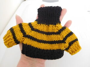 """New Factory Made Turtleneck Knit Sweater 4"""" Long for Small Teddy Bear, Doll"""