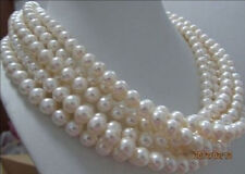 "8-9mm AA+ WHITE South Sea PEARL NECKLACE 100""AAA"