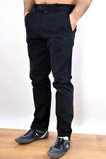 AVIREX USA Black Stretch CHINO TROUSERS Pants W32 L 30 Cotton SUPER Good