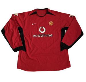 Beckham 7 Manchester United Shirt XL 2002 2003 Nike Jersey Vodafone