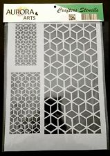 Stencil by Aurora Arts A4 Geometric shapes 190mic Mylar craft stencil 093