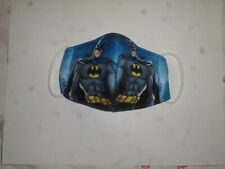 batman 3 layer fabric earloop face cover for little kid