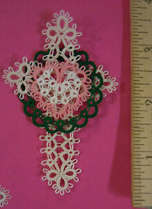 VICTORY of CHRIST Christmon Tatted Tatting  Ornament  Bookmark FREE SHIPPING