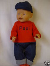 Für Baby Born Junge Boy  Kleidung Puppenkleidung 4-TLG.