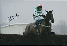 Carl LLEWELLYN Jockey SIGNED Autograph Photo AFTAL COA Lord of Illusion Newbury