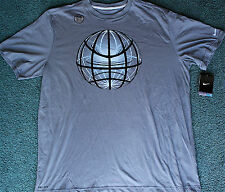 NWT Mens Nike 2XL Dri-Fit Blue/Black Fusion Power Glow BASKETBALL Shirt XXL 2XL