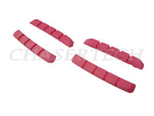 New Bicycle Bike V-Brake Cartridge Pad Shoe Inserts Pink 2 Pairs