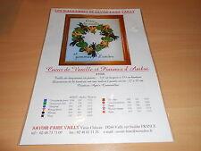 """grille point de croix SAVOIR FAIRE VAILLY """"coeur de vanille et pommes d' ambre"""""""