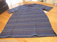 Men's Quiksilver Lowery Polo stripe shirt blue $45 S SM 108245 MM007 surf skate