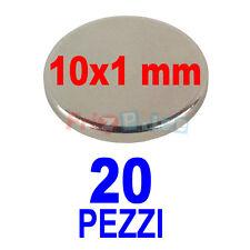 SUPERMAGNETI MAGNETI 20 10X1 NEODIMIO MM POTENTI PER HOBBY CALAMITA POTENTE vr