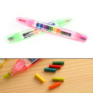 20Colors Wax Crayon Non-toxic washable Crayons Color Doodle Kid toy paintin*wk