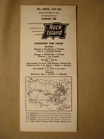 Rock Island - Time Table - Oct. 25, 1959 - Condensed