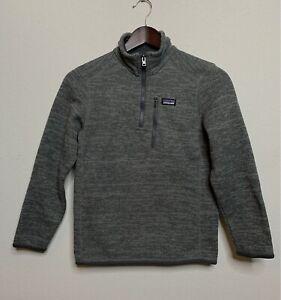 Patagonia Better Sweater Boy's Quarter Zip Jacket Gray Sz M