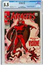 The Avengers #57 (Marvel, 1968) CGC VG/FN 5.5 Cream to off-white pages.