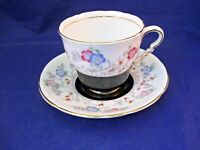 VINTAGE ROYAL STAFFORD TEA CUP AND SAUCER - QUITE UNUSUAL - MADE IN ENGLAND