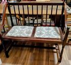 Vintage Deacon  Parson's bench, Settee Wood w Cherry finish perfect for entryway