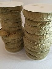 "10 yards 1 1/2"" Taupe Green Brush Fringe Pillows Home Decor Sewing Lot 6"