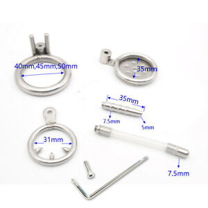 Stainless Steel Male Chastity Device Anti-off Ring Urethral Catheter Screw Lock