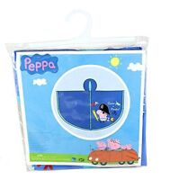 Peppa Pig - George The Pirate Kids Blue Waterproof Rain Poncho - EXTRA SMALL