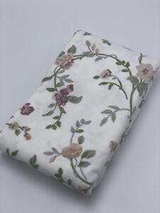 Heavyweight %100 Cotton,Flannel Standard Pillowcase Pair, Vine Floral