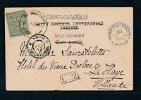TURKEY 1892, picture postcard PERA to Hollande, very fine! |A18430