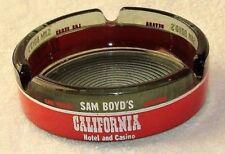Vintage Souvenir Smoked Glass Sam Boyd's Hotel and Casino Ashtray, Las Vegas
