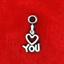 15 x Tibetan Silver I Love You Charm Pendant Jewelry Making Craft