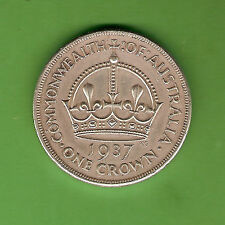 #D1.  AUSTRALIAN 1937 STERLING SILVER CROWN, FIVE SHILLING COIN
