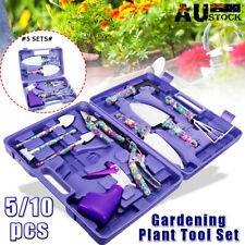 10pcs Garden Gardening Hand Tool Kit Set Carrying Case Heavy Duty Stylish AU