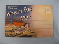 Worlds Fair 1933 Chicago Original Postcard Book Booklet Century Of Progress (O)